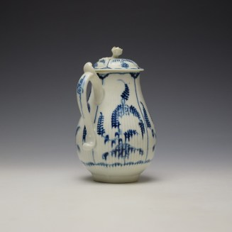 Worcester Immortelle Pattern Sparrow Beak Jug and Cover c1770-90 (4)
