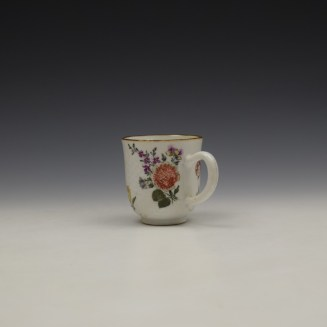 James Giles Decorated Floral Pattern Chinese Coffee Cup C1760 (6)