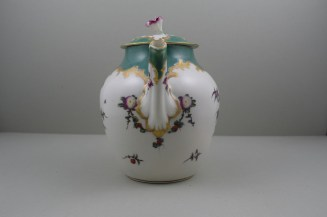Worcester Porcelain James Giles Spotted Fruit Pattern Teapot, Cover and Stand, C1770 (4)