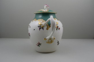 Worcester Porcelain James Giles Spotted Fruit Pattern Teapot, Cover and Stand, C1770 (8)