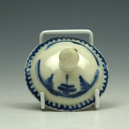 Liverpool John Pennington House Fence and Willow Pattern Toy Teapot c1775-85 (11)