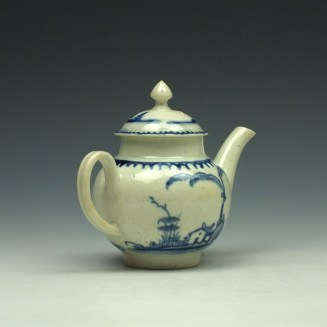 Liverpool John Pennington House Fence and Willow Pattern Toy Teapot c1775-85 (6)