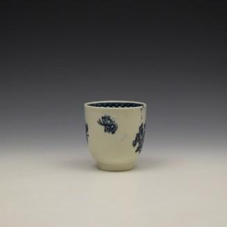 Liverpool John Pennington Peony and Daisy Sprays Pattern Coffee Cup c1780-90 (2)