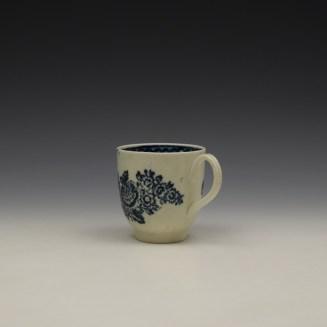 Liverpool John Pennington Peony and Daisy Sprays Pattern Coffee Cup c1780-90 (6)