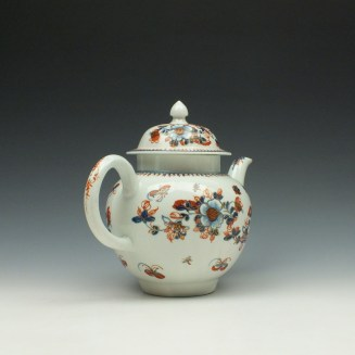 Liverpool John Pennington Profile Bud Pattern Teapot and Cover c1775-85 (5)