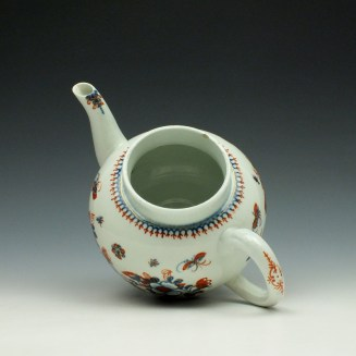 Liverpool John Pennington Profile Bud Pattern Teapot and Cover c1775-85 (7)