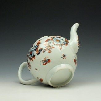 Liverpool John Pennington Profile Bud Pattern Teapot and Cover c1775-85 (8)