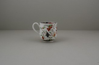 Worcester Porcelain Kempthorne Pattern Coffee Cup and Saucer, C1768-75 (5)