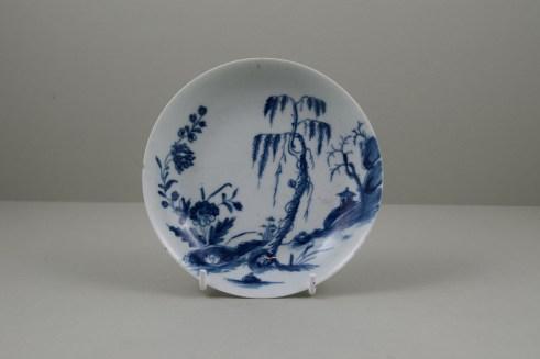 Worcester Porcelain Lanslip Pattern Teabowl and Saucer, C1755-60 (11)