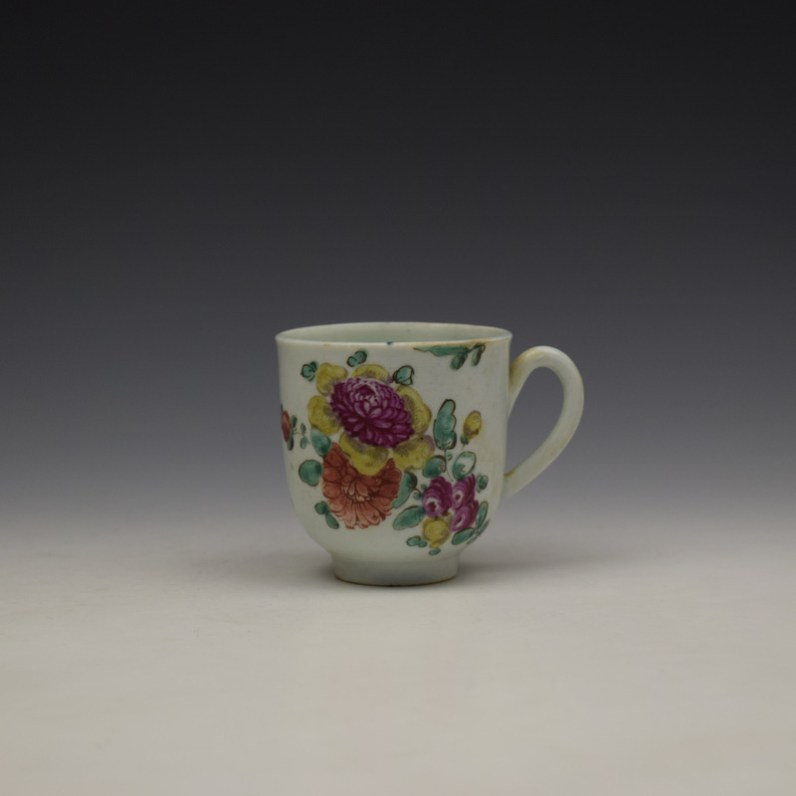 Liverpool John Pennington Floral Pattern Coffee Cup c1775-80 (1)
