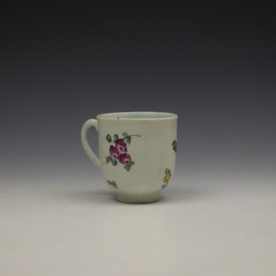 Liverpool John Pennington Floral Pattern Coffee Cup c1775-80 (3)