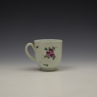 Liverpool John Pennington Floral Pattern Coffee Cup c1775-80 (4)