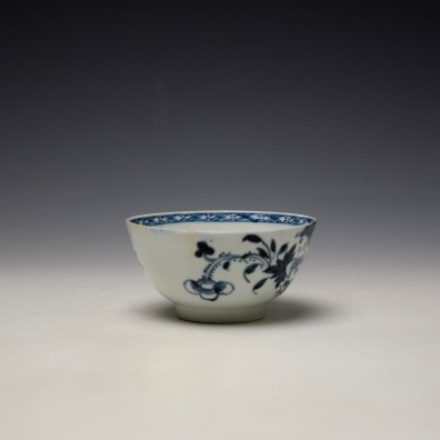 Liverpool Philip Christian Bird in Branches Pattern Teabowl and Saucer c1766-70 (3)