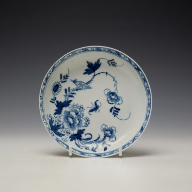 Liverpool Philip Christian Bird in Branches Pattern Teabowl and Saucer c1766-70 (8)