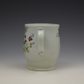 Longton Hall Fancy Bird and Rock Pattern Bell Shaped Mug c1755 Ex Watney Collection (7)