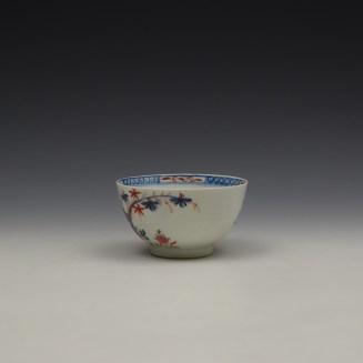 Lowestoft Green Redgrave Pattern Teabowl and Saucer c1775-85 (6)