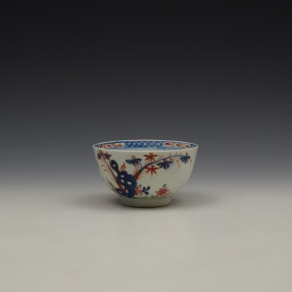 Lowestoft Green Redgrave Pattern Teabowl and Saucer c1775-85 (7)