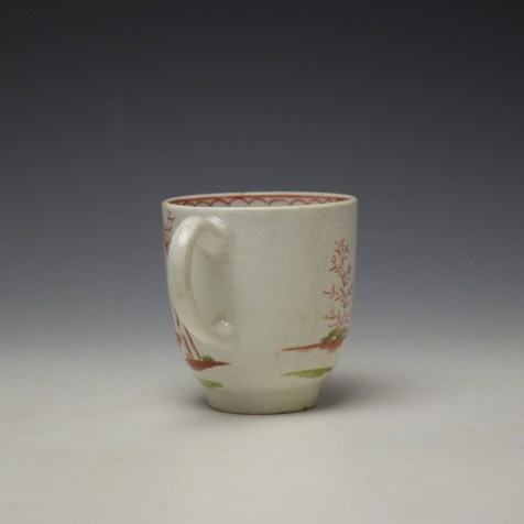 Lowestoft Mandarin Chinese Lovers Pattern Coffee Cup c1785-95 (4)