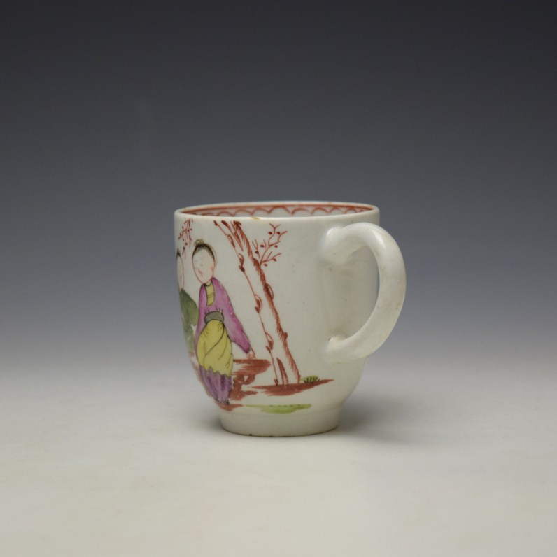 Lowestoft Mandarin Chinese Lovers Pattern Coffee Cup c1785-95 (5)