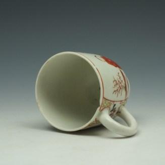 Lowestoft Mandarin Chinese Lovers Pattern Coffee Cup c1785-95 (6)