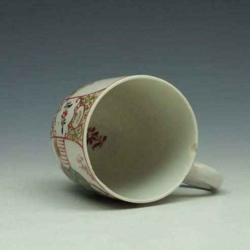 Lowestoft Mandarin Chinese Lovers Pattern Coffee Cup c1785-95 (7)