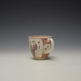 Lowestoft Mandarin Conversation Pattern Coffee Cup c1785-90 (5)
