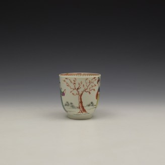 Worcester Mandarin Lady and Creel Pattern Coffee Cup c1780 (2)