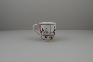 Worcester Porcelain Mother and Naughty Children Pattern Mandarin Coffee Cup, C1770 (4)