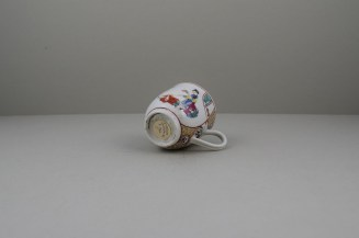 Worcester Porcelain Mother and Naughty Children Pattern Mandarin Coffee Cup, C1770 (7)