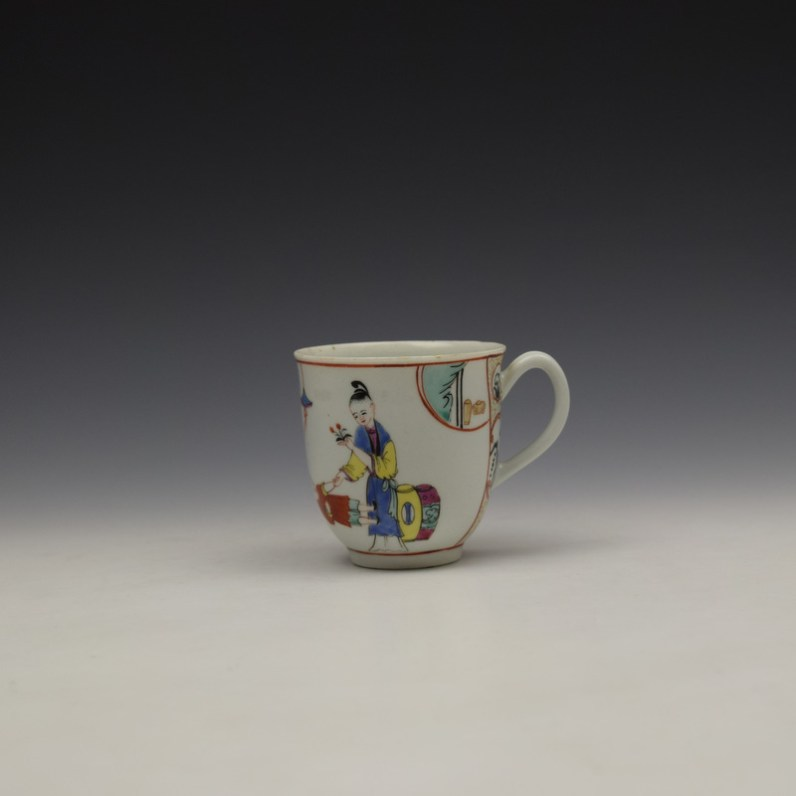 Worcester Mandarin Naughty Child Pattern Coffee Cup c1770-80 (1)
