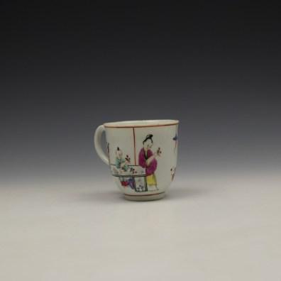 Worcester Mandarin Naughty Child Pattern Coffee Cup c1770-80 (3)