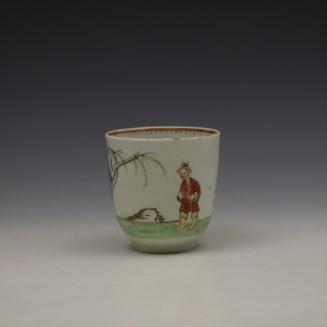 Worcester Mandarin Pattern Replacement Coffee Cup c1768-70 (2)