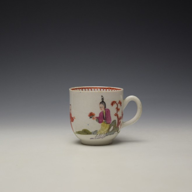 Bow Mandarin Pattern Coffee Cup c1765-70 (1)