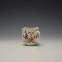 Bow Mandarin Pattern Coffee Cup c1765-70 (5)