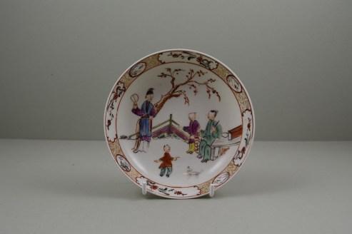 Lowestoft Porcelain Mandarin Pattern Saucer, C1780-90 (9)