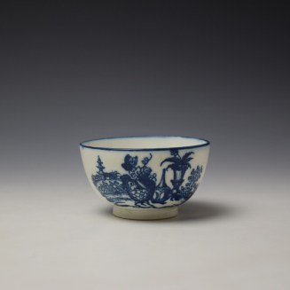 Caughley Mother and Child Pattern Teabowl and Saucer c1776-90 (3)