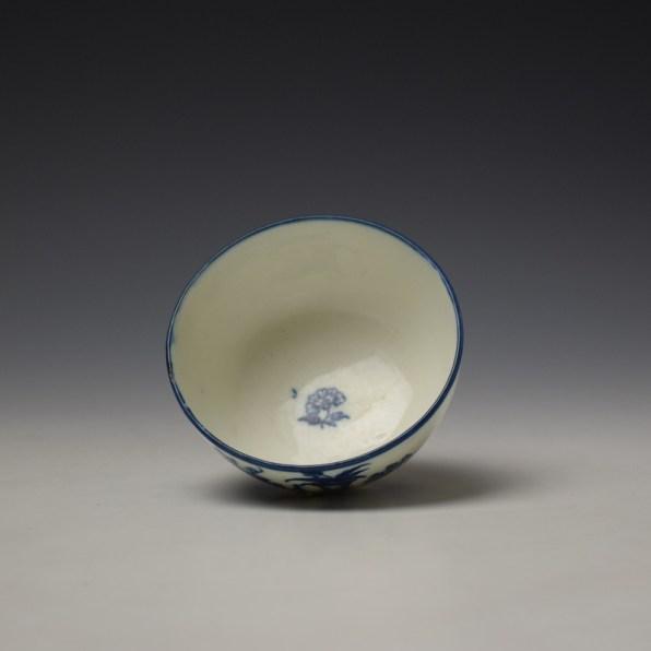 Caughley Mother and Child Pattern Teabowl and Saucer c1776-90 (5)