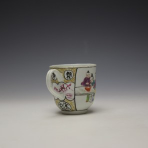 Worcester Mandarin Mother and Child Under a Tree Pattern Coffee Cup c1770-80 (4)
