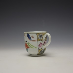 Worcester Mandarin Mother and Child Under a Tree Pattern Coffee Cup c1770-80 (5)
