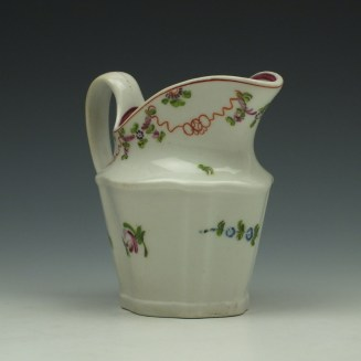 New Hall Pattern 195 Cream Jug c1790-1800 (3)