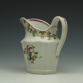 New Hall Pattern 195 Cream Jug c1790-1800 (6)