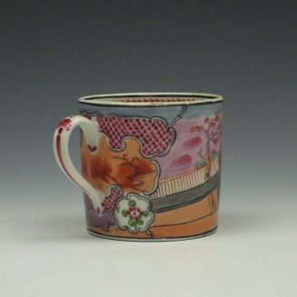 New Hall Pattern 425 Coffee Can and Saucer c1800-15 (5)