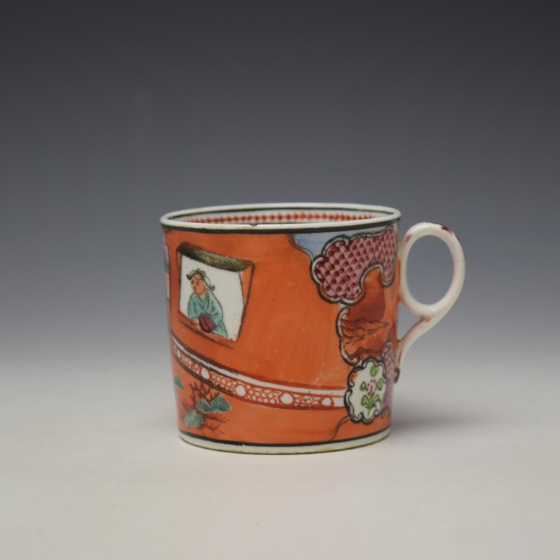 New Hall Boy in the Window Pattern Coffee Can c1800-10 (1)