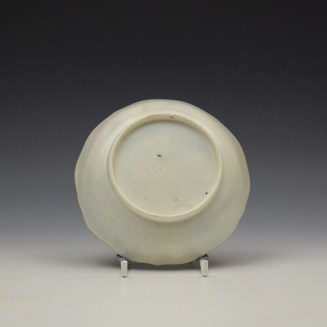 Caughley Pagoda Pattern Teabowl and Saucer c1782-92 (9)