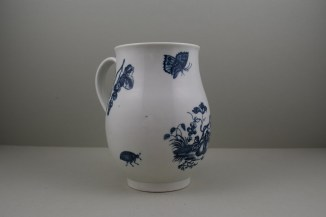 Worcester First Period Porcelain Parrot Pecking Fruit Pattern Large Size Bell Shaped Mug, C1770-85 (4)