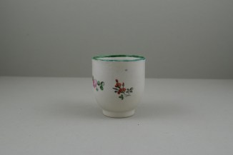 Liverpool Porcelain Pennington's Pink Rose and Flower Spray Pattern Coffee Cup, C1780-85. 3