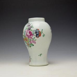 Liverpool Philip Christian Floral Pattern Vase c1765-70 (5)