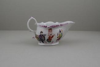Liverpool Porcelain Philip Christian Mandarin Conjuror Pattern Creamboat, C1768-72 (5)