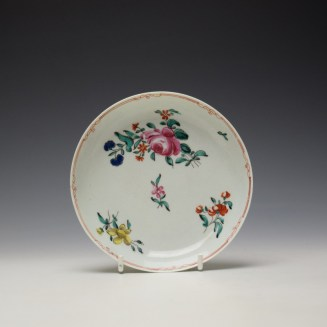 Liverpool Philip Christian Rose and Floral Sprays Pattern Coffee Cup and Saucer c1770 (8)