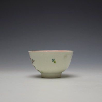 Liverpool Philip Christian Rose and Floral Sprays Pattern Teabowl and saucer c1770-75 (5)